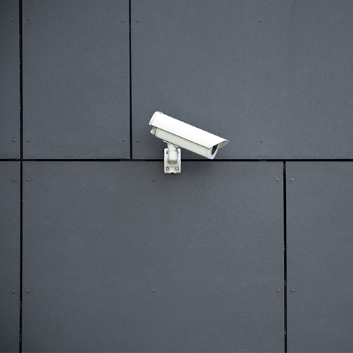 Photo of a surveillance camera