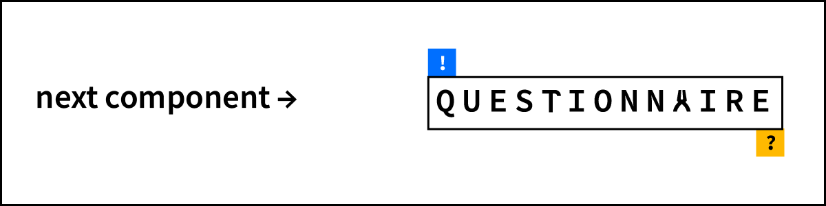 An image with a link taking you to the next component of the toolkit: questionnaire.