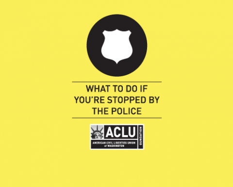 Cover of the wallet card: What to do if you're stopped by the police