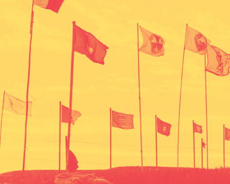 image of flags representing Native American tribes
