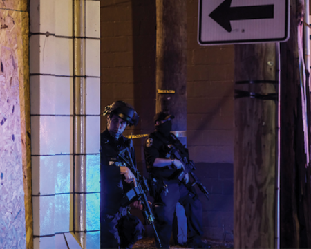 image of police officers in full gear
