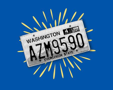 image of generic washington license plate