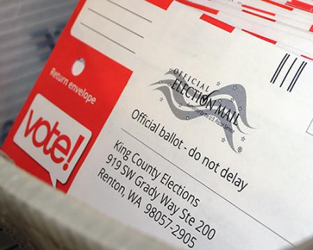 A photo of ballots