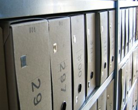 Photo of filing boxes