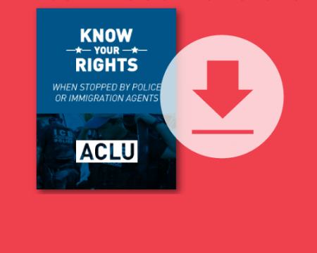 Download our know your rights with police and immigration guide