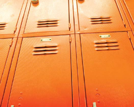 Photo of school lockers