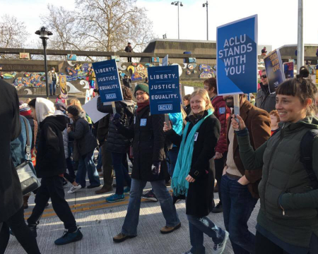 ACLU of WA marching in MLK march 2017