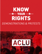 Cover of the protest and demonstration know your rights wallet card