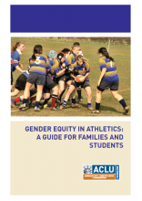 Cover of gender equity in athletics guide