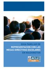 cubierta de guía familiar de representacion con las mesas directivas escolares