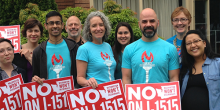 Photo of ACLU staff members at a No on I-1515 rally