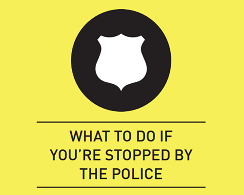 Cover of ACLU rights when stopped by the police card
