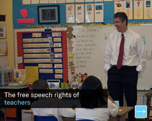 The free speech rights of teachers