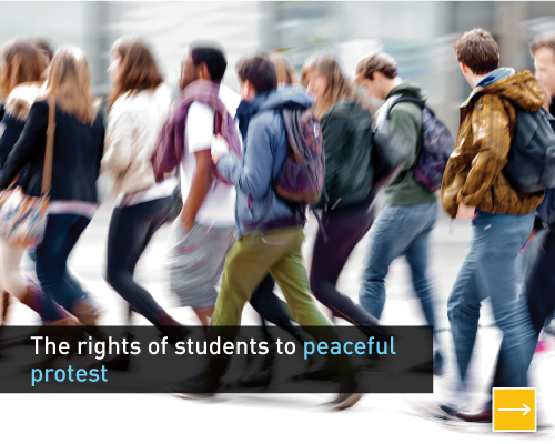 The rights of students to peaceful protest