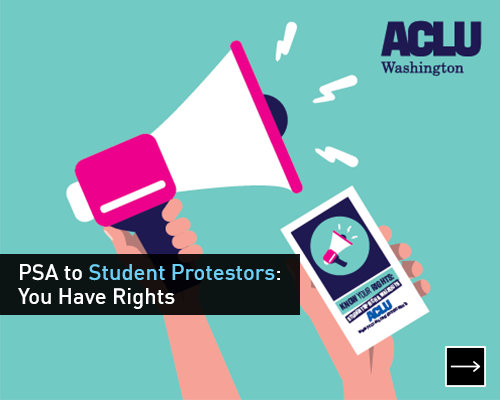 PSA to student protesters: You have rights!
