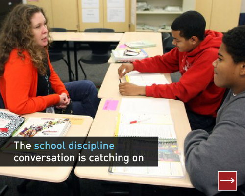 The school discipline conversation is catching on