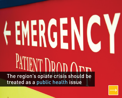 The region's opiate crisis should be treated as a public health issue