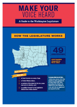An image of the cover of Make Your Voice Heard: A Guide to the Washington Legislature