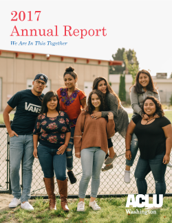"Cover of 2017 Annual report entitled ""We are in this together"""