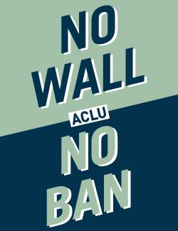 No Ban No Wall Poster