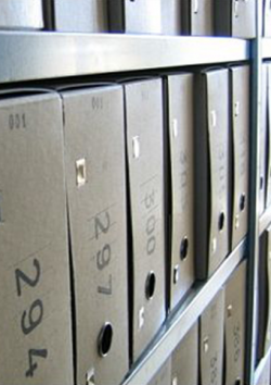 Photo of file boxes