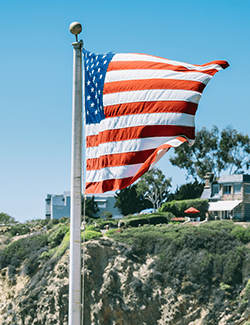 Photo of the US flag