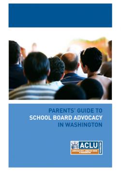 Cover of the school board advocacy guide