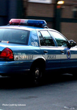 Photo of a Seattle police car