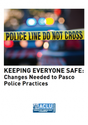 Cover of Pasco Police practices report