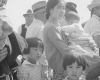 Photo of Japanese-Americans headed to internment camps during WWII